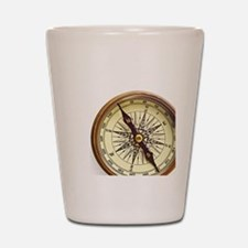 Vintage Compass Shot Glass