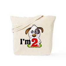 2nd Birthday Puppy Tote Bag