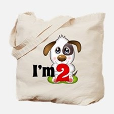 2nd Birthday Puppy Tote Bag