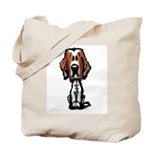 Red & White Setter Tote Bag