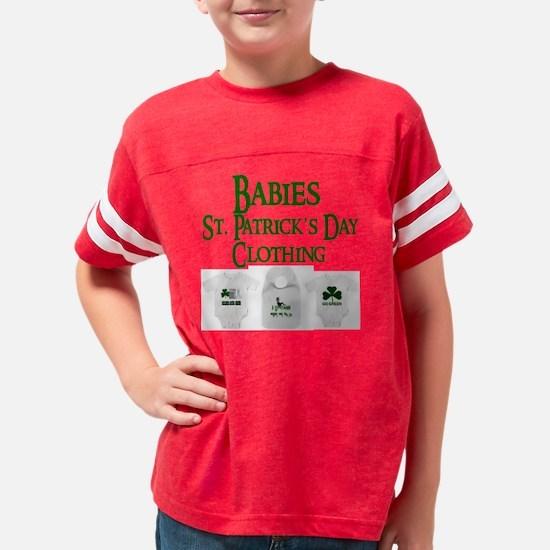 Babies St. Patricks Day Cloth Youth Football Shirt