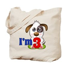 3rd Birthday Puppy Tote Bag