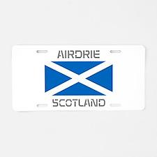 Airdrie Scotland Aluminum License Plate