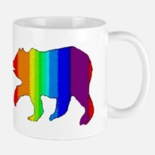 DIMPLED RAINBOW WALKING BEAR Mug