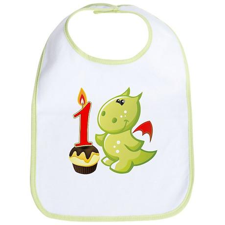 1st Birthday Baby Dragon Bib