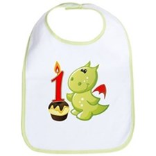 1st Birthday Baby Dragon Bib
