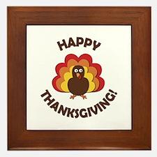 Happy Thanksgiving! Framed Tile