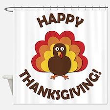 Happy Thanksgiving! Shower Curtain