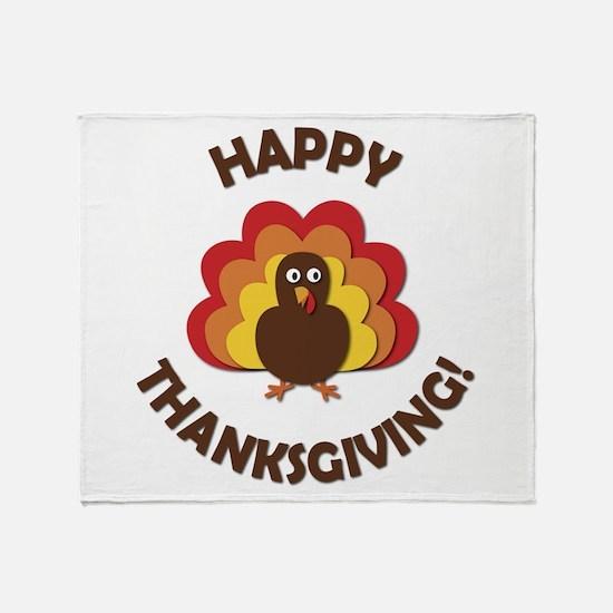 Happy Thanksgiving! Throw Blanket