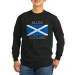 Alloa Scotland Long Sleeve Dark T-Shirt