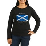 Alloa Scotland Women's Long Sleeve Dark T-Shirt