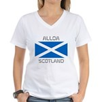Alloa Scotland Women's V-Neck T-Shirt