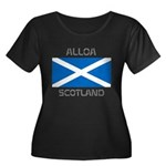 Alloa Scotland Women's Plus Size Scoop Neck Dark T