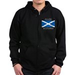 Alloa Scotland Zip Hoodie (dark)