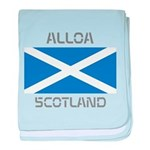 Alloa Scotland baby blanket