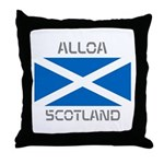 Alloa Scotland Throw Pillow