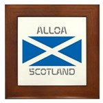 Alloa Scotland Framed Tile