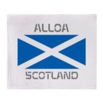 Alloa Scotland Throw Blanket