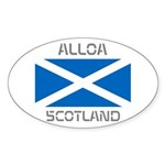 Alloa Scotland Sticker (Oval)
