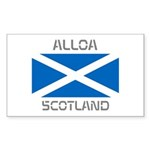 Alloa Scotland Sticker (Rectangle 50 pk)