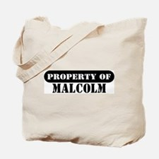 Property of Malcolm Tote Bag