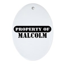 Property of Malcolm Oval Ornament