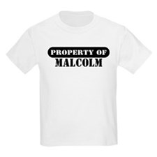Property of Malcolm Kids T-Shirt
