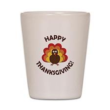 Happy Thanksgiving! Shot Glass