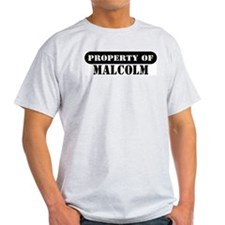 Property of Malcolm Ash Grey T-Shirt