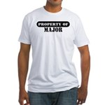 Property of Major Fitted T-Shirt