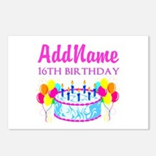 16TH BIRTHDAY Postcards (Package of 8)