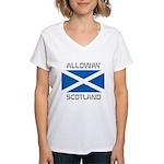 Alloway Scotland Women's V-Neck T-Shirt