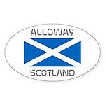 Alloway Scotland Sticker (Oval 10 pk)