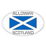 Alloway Scotland Sticker (Oval 50 pk)