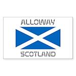 Alloway Scotland Sticker (Rectangle 50 pk)