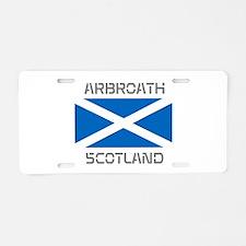 Arbroath Scotland Aluminum License Plate