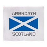 Arbroath Scotland Throw Blanket