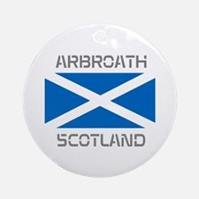 Arbroath Scotland Ornament (Round)
