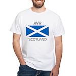 Ayr Scotland White T-Shirt
