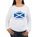 Ayr Scotland Women's Long Sleeve T-Shirt
