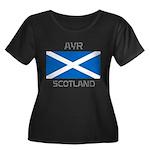 Ayr Scotland Women's Plus Size Scoop Neck Dark T-S