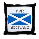 Ayr Scotland Throw Pillow