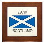 Ayr Scotland Framed Tile