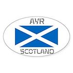 Ayr Scotland Sticker (Oval)