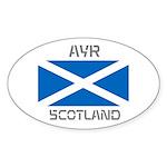 Ayr Scotland Sticker (Oval 10 pk)