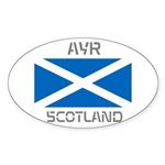 Ayr Scotland Sticker (Oval 50 pk)