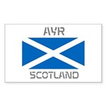 Ayr Scotland Sticker (Rectangle 10 pk)
