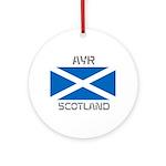 Ayr Scotland Ornament (Round)