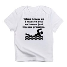 Swimmer Like My Grandma Infant T-Shirt