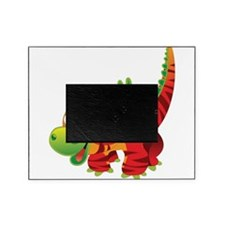 Red Striped Dinosuar Picture Frame